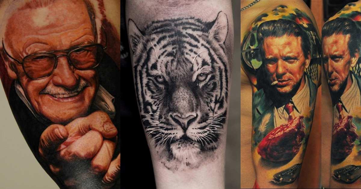 Estos tatuajes hiperrealistas te dejaran con la boca abierta