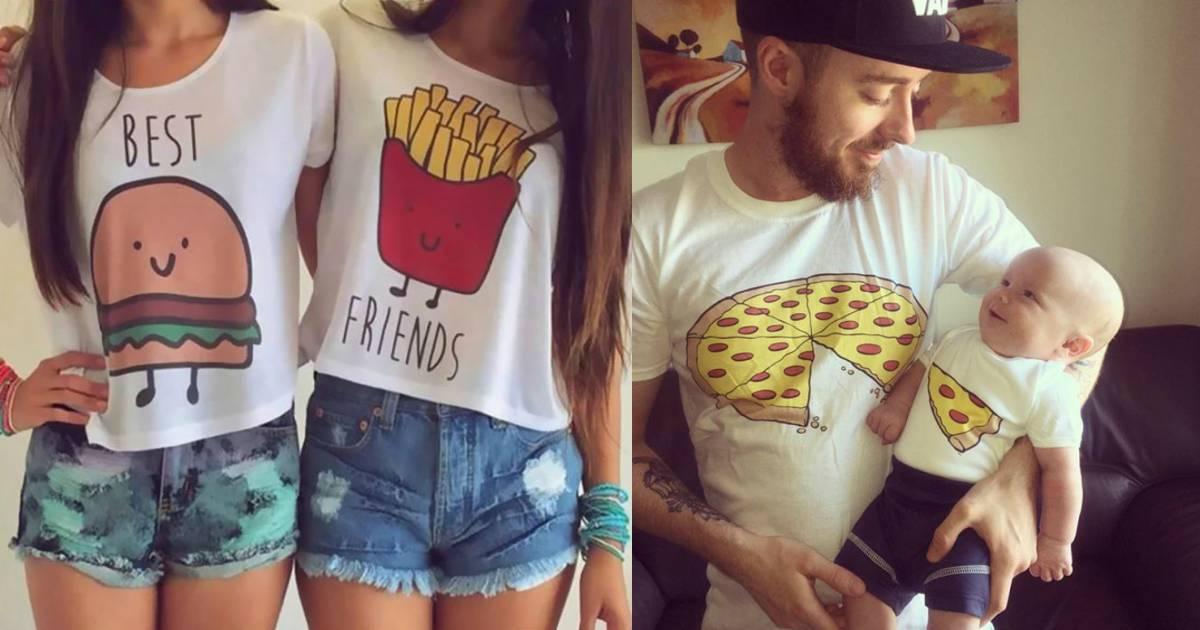 20 camisetas perfectas para usar con tu familia, pareja y mejores amigos